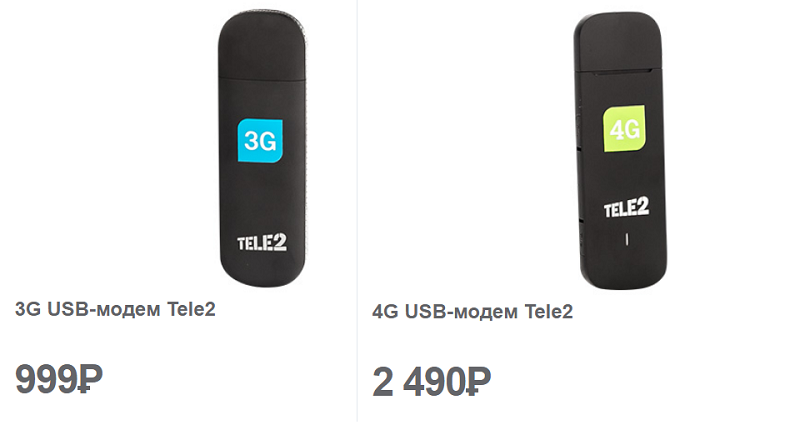 USB модемы Теле2